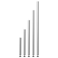 750RAL apvalios reguliuojamos kojos 60-63cm (4vnt)