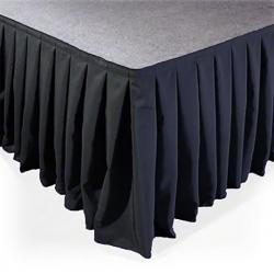 SKIRT-V40 pakylos sijonas 6m x 40cm velvetinis klostuotas