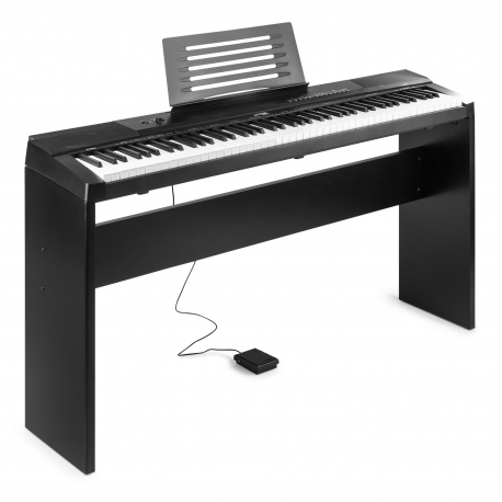Skaitmeninis pianinas MAX KB6W 88-keys su stovu