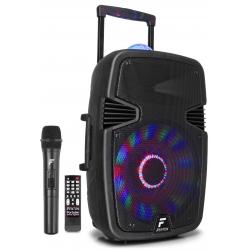 Fenton FT15JB nešiojama kolonėlė 800W su bevieliu mikrofonu ir šviesos efektu