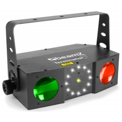 BeamZ Terminator IV LED Double Moon with laser and strobe