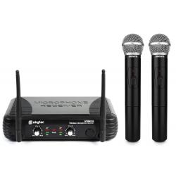 Skytec STWM722 2-kanalų UHF bevielių mikrofonų sistema