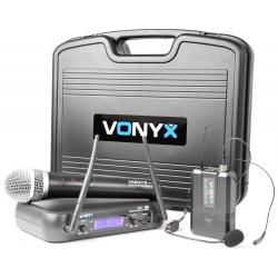 Vonyx WM73C 2-kanalų UHF bevielių mikrofonų sistema