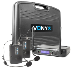 Vonyx WM73H 2-kanalų UHF bevielių mikrofonų sistema