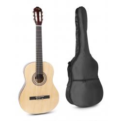 MAX SoloArt klasikinė gitara naturalaus medžio - rinkinys