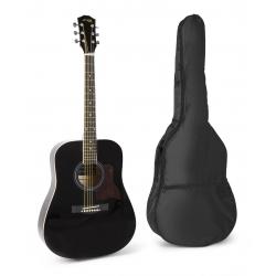MAX SoloJam akustinė gitara juoda - rinkinys