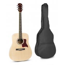MAX SoloJam akustinė gitara naturalaus medžio - rinkinys