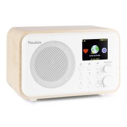 Audizio Venice WIFI internetinis radijo imtuvas su BT ir akumuliatoriumi Baltas