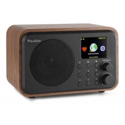 Audizio Venice WIFI internetinis radijo imtuvas su BT ir akumuliatoriumi Tamsus medis