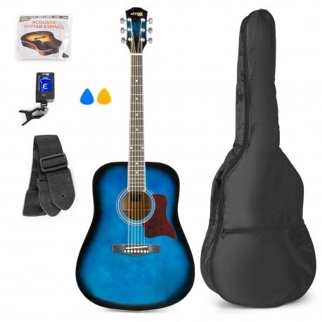 MAX SoloJam akustinė gitara melyna - rinkinys