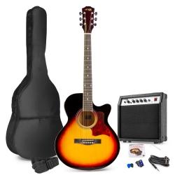 MAX ShowKit Elektro-akustinė gitara sunburst - rinkinys
