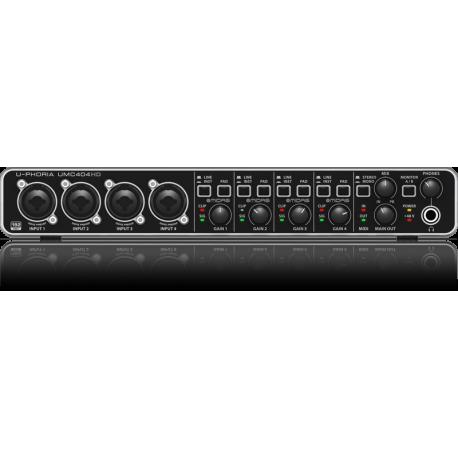 BEHRINGER U-PHORIA UMC-404HD USB AUDIO INTERCAFE