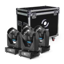 4x LED MOVING HEAD 150W 2-31° AUTO FOCUS, ROTO PRISM (SET)