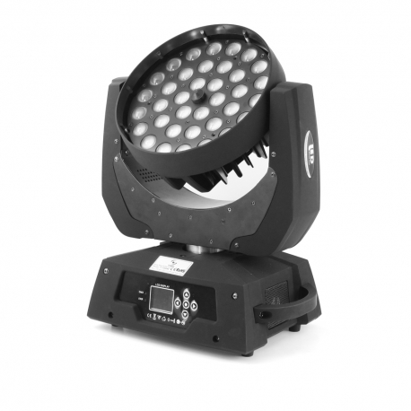 4x LED MOVING HEAD 36x10W RGBW 4in1 ZOOM ver.2  + CASE