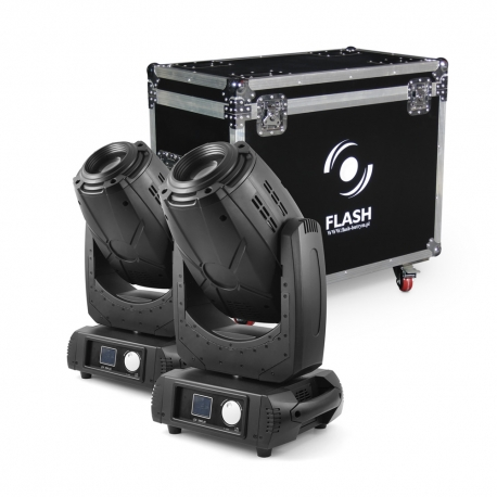 2x 3R Moving Head 3in1 BEAM+SPOT+WASH, ZOOM (SET)