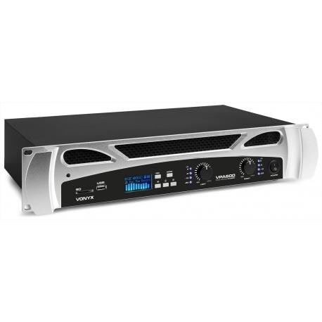 Vonyx VPA600 PA Amplifier 2x 300W Media Player with Bluetooth