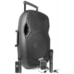 VONYX AP1500PA nešiojama kolonėlė su 2 bevieliais mikrofonais