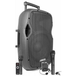 VONYX AP1200PA nešiojama kolonėlė su 2 bevieliais mikrofonais