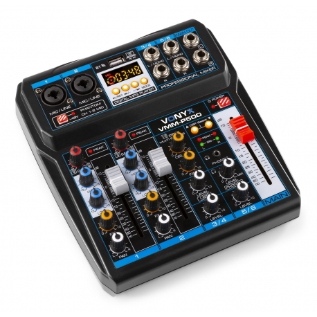 VONYX VMM-P500 4-Channel Music Mixer with DSP/USB and MP3/Bluetooth