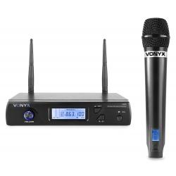 VONYX WM61 bevielis mikrofonas UHF 16-kanalų su 1 rankiniu mikrofonu