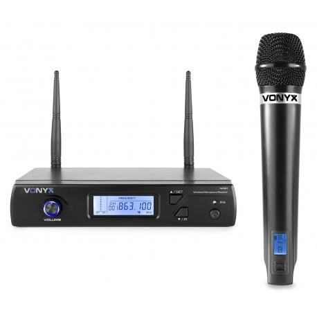 VONYX WM61 Wireless Microphone UHF 16Ch with 1 Handheld Microphone