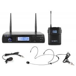 VONYX WM61B Wireless Microphone UHF 16Ch with 1 Bodypack
