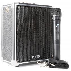 Fenton ST040 40W nešiojama kolonėlė su bevieliu mikrofonu BT/MP3/USB/SD/VHF