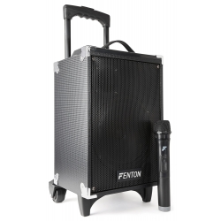 """Fenton ST050  8"""" nešiojama kolonėlė su bevieliu mikrofonu BT/MP3/USB/SD/VHF"""