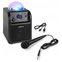 Vonyx SBS50B BT Karaoke Speaker LED Ball Black