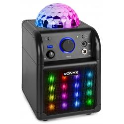 Fenton SBS50B-PLUS Karaoke Set Black with LED Light Effects