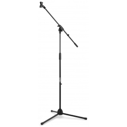 MS10 Microphone Stand + Boom Black